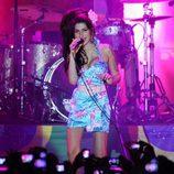 Amy Winehouse durante un concierto en Brasil