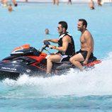 David Bustamante en moto de agua en Formentera