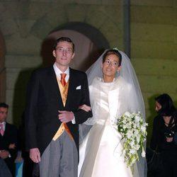 Fernando Gómez-Acebo y Mónica Martín Luque el día de su boda