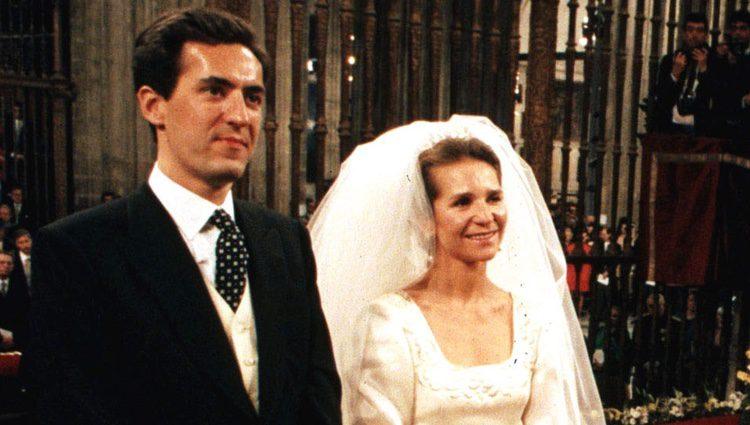 La Infanta Elena y Don Jaime de Marichalar el día de su boda
