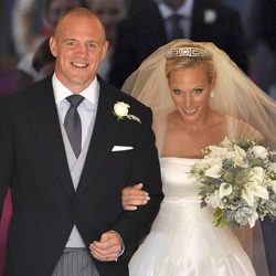 Zara Phillips y Mike Tindall tras convertirse en marido y mujer