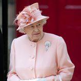 La Reina Isabel II en la boda de Zara Phillips
