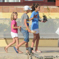 Victoria Federica, Miguel e Irene de vacaciones en Mallorca