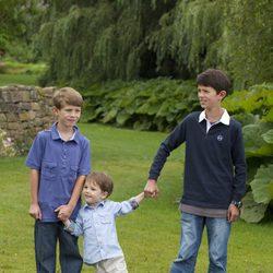 Los Príncipes Félix, Enrique y Nicolás de Dinamarca
