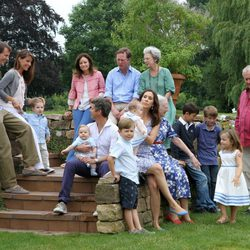 La Familia Real Danesa posa durante sus vacaciones 2011