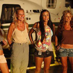 Rosi Arcas, Rosa Benito, Tatiana Delgado y Sonia Monroy en la final de 'Supervivientes 2011'
