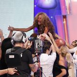 Sonia Monroy se reencuentra con su familia y amigos en la final de 'Supervivientes 2011'