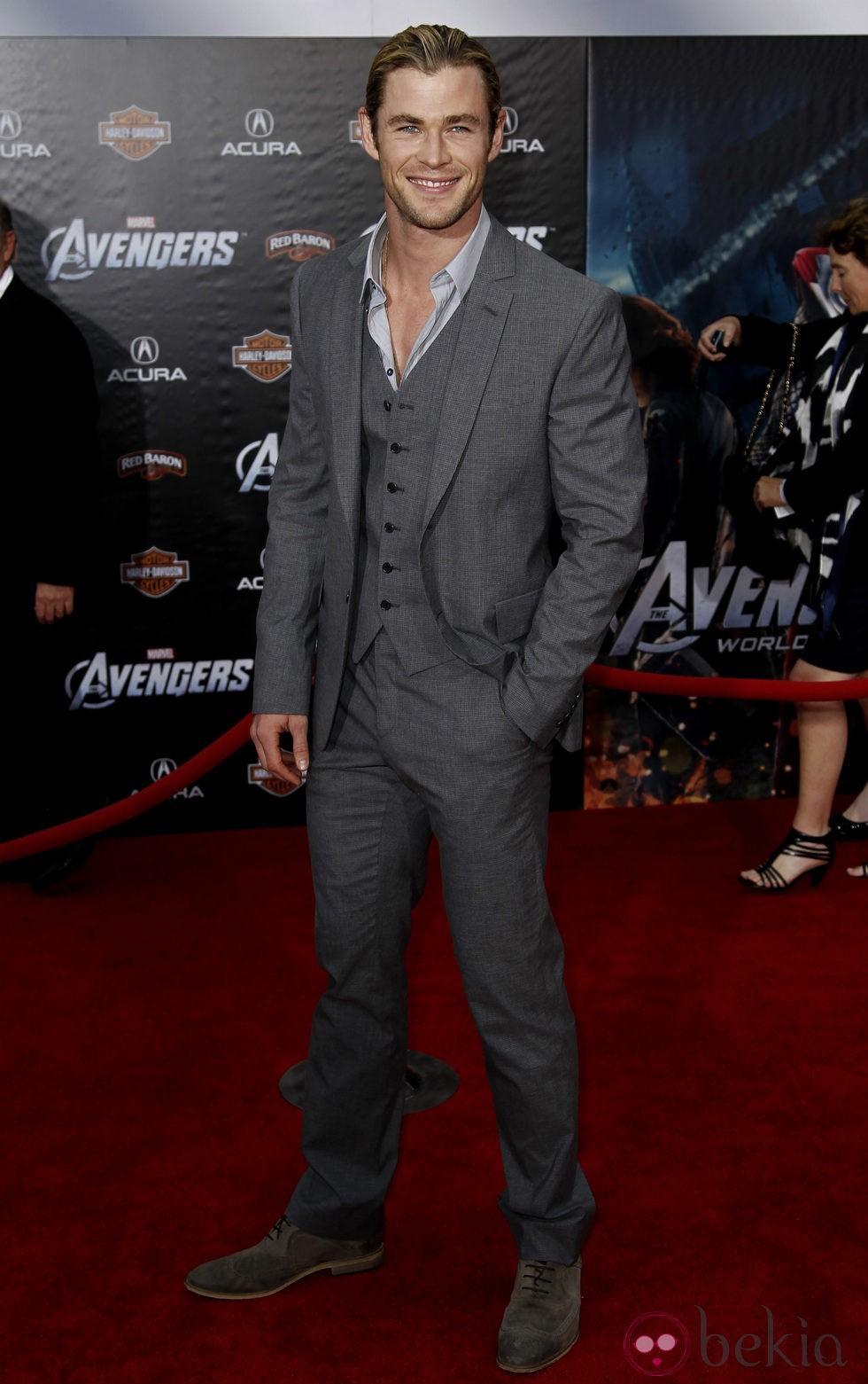 Chris Hemsworth en la premiere de 'Los Vengadores' en Los Angeles