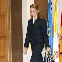 La Infanta Elena en la inauguración de un Coloquio anual en ICADE