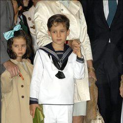 Felipe de Marichalar el día de su comunión