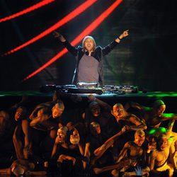 David Guetta durante una actuación en directo
