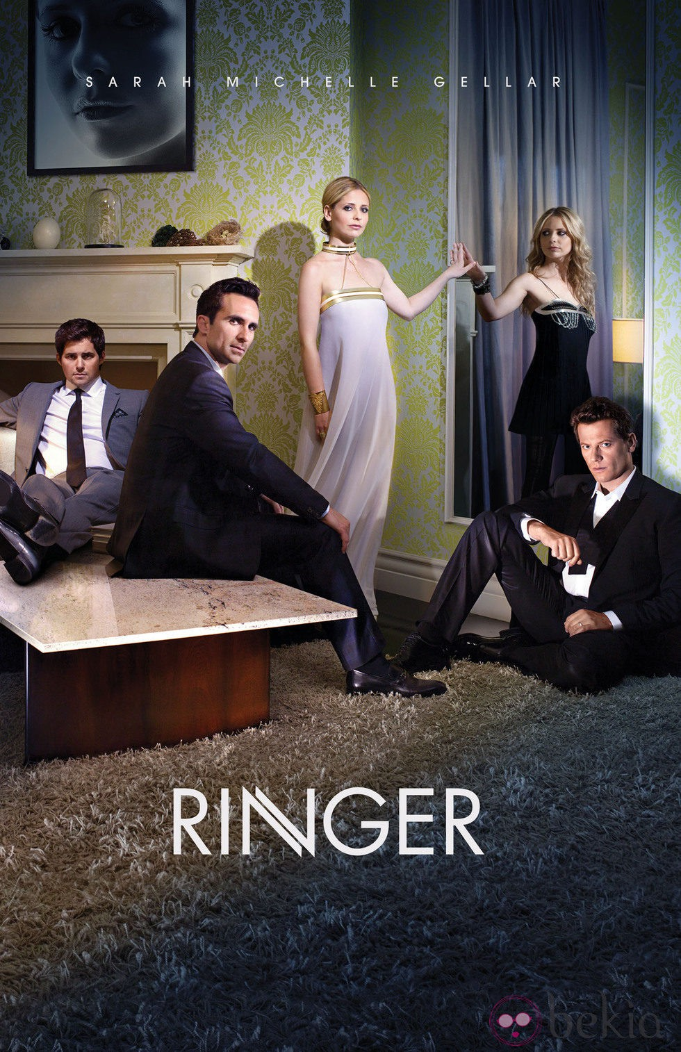 Sarah Michelle Gellar en el póster promocional de 'Ringer'