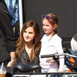 Emma Watson, en el set de rodaje de 'The Bling Ring'