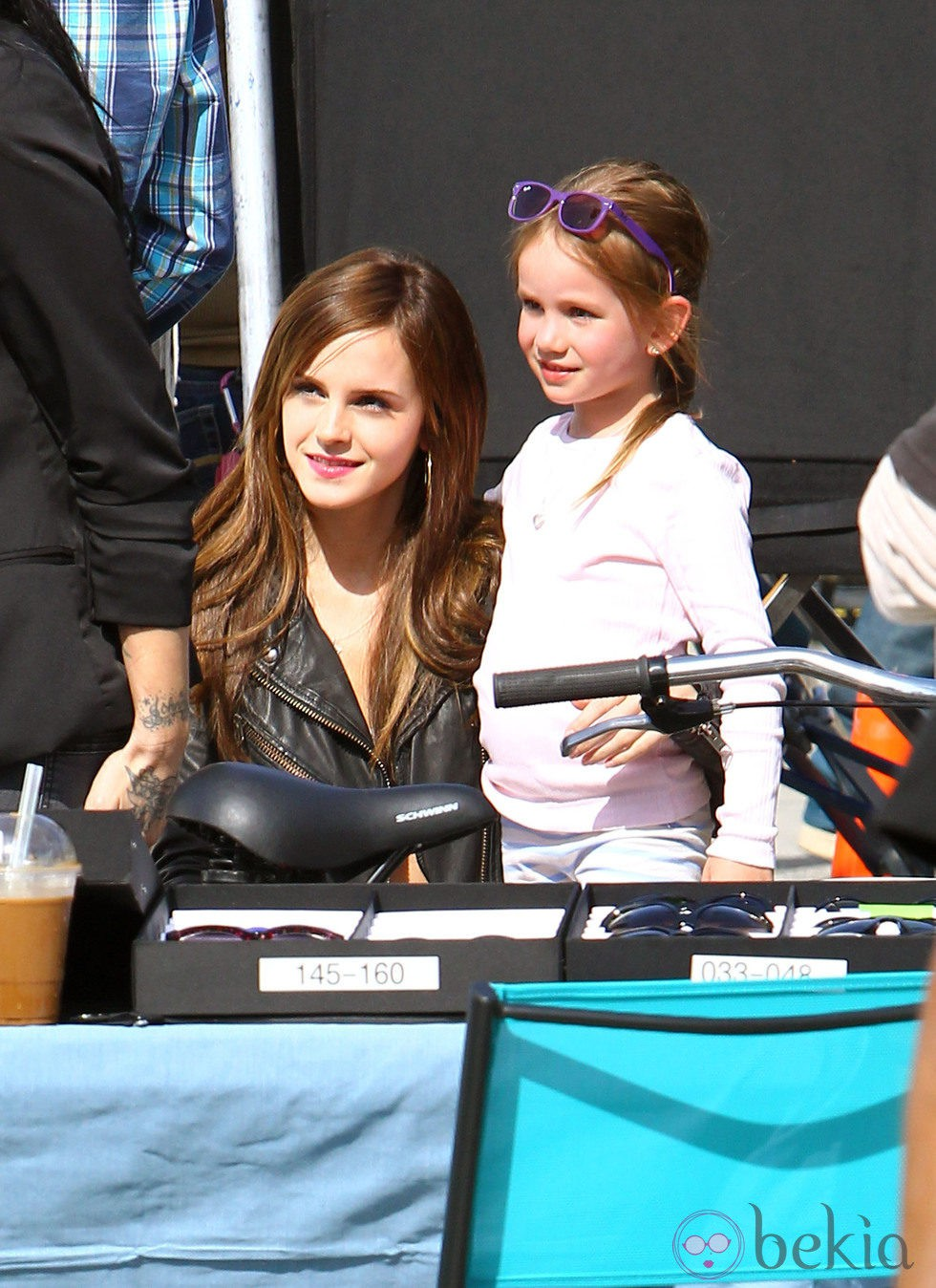 Emma Watson, en el set de rodaje de 'The Bling Ring'
