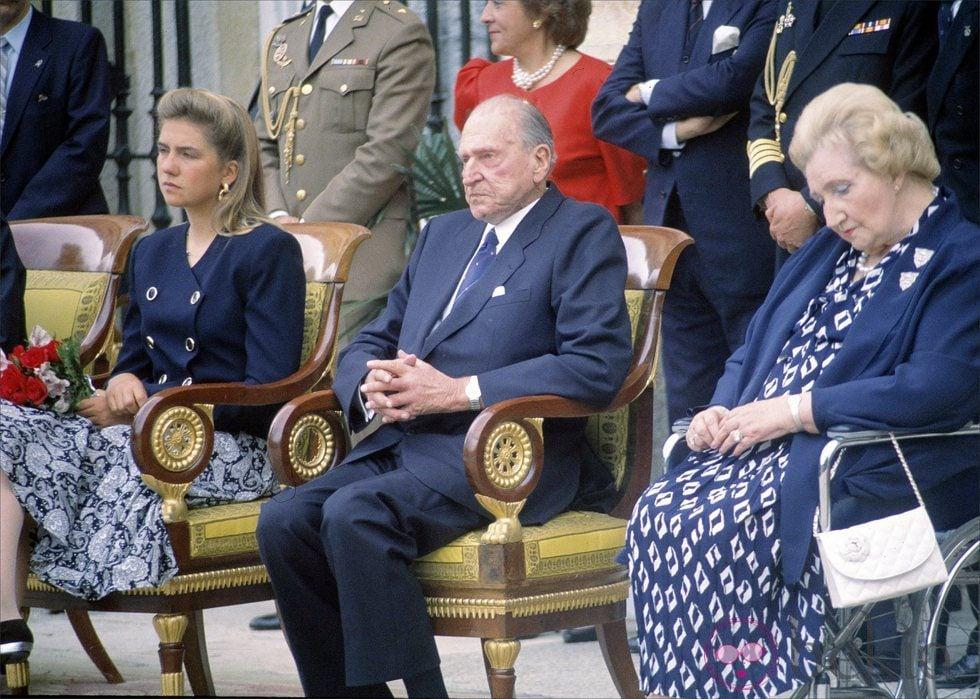 La Infanta Cristina y los Condes de Barcelona
