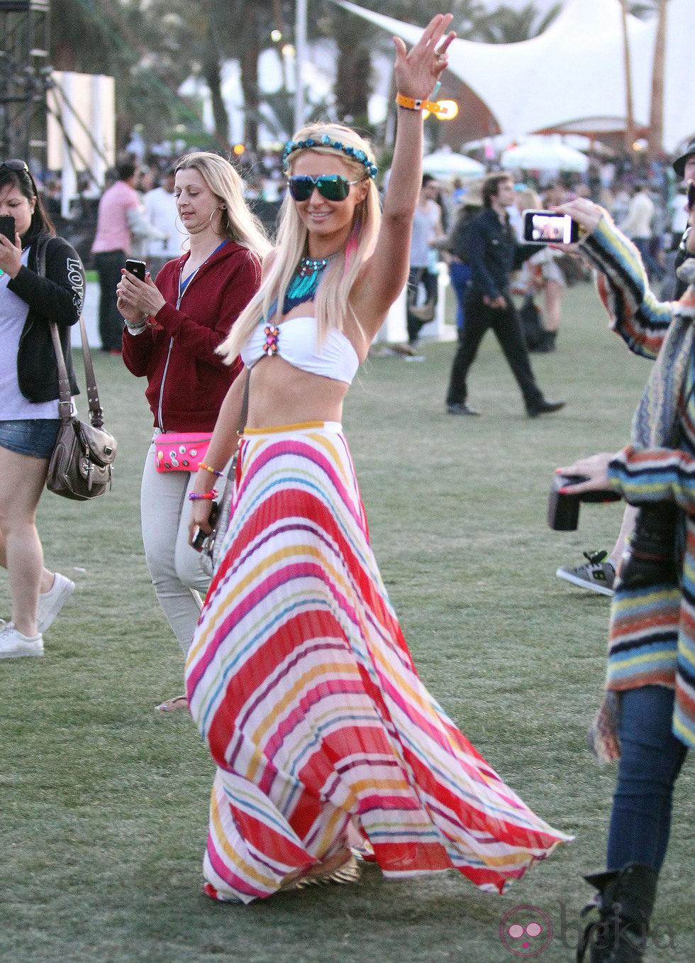 Paris Hilton en el Coachella Festival