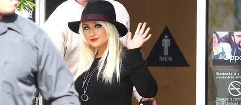 Christina Aguilera fotografiada en la ciudad de Los Angeles