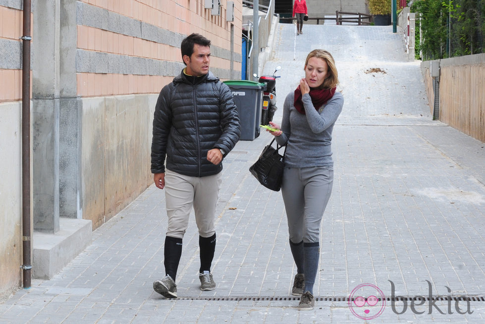 Marta Ortega y Sergio Álvarez en el Club de Polo de Barcelona