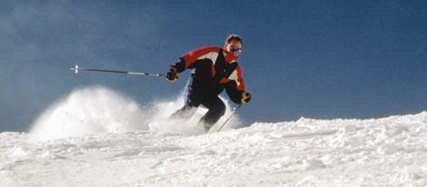 El Rey Juan Carlos esquiando en Candanchú en 1995