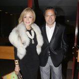 Carmen Lomana y Ángel Casaña en el cumpleaños de Elena Benarroch