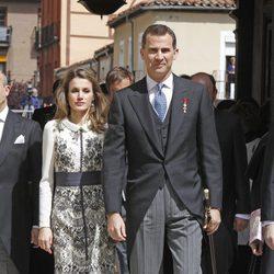 Los Príncipes de Asturias en la entrega del Premio Cervantes 2011