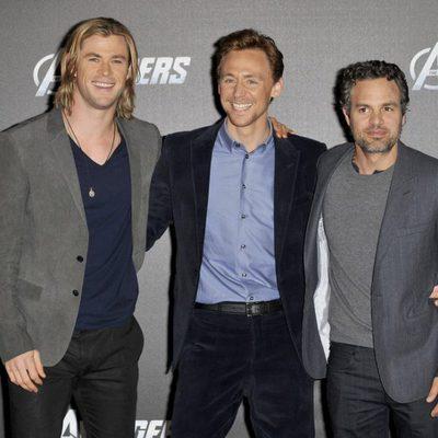 Chris Hemsworth, Tom Hiddleston y Mark Ruffalo promocionan 'Los Vengadores' en Berlín