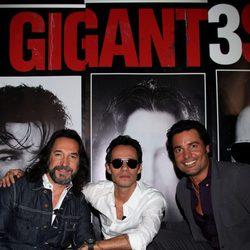 Marc Anthony, Chayanne y Marco Antonio Solís en la presentacón de su gira conjunta 'Gigantes'