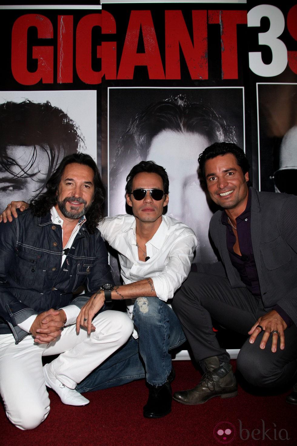 Marc Anthony, Chayanne y Marco Antonio Solís en la presentacón de su ...