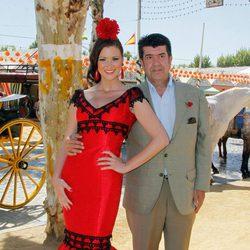 María Jesús Ruiz y José María Gil Silgado en la apertura de la Feria de Abril 2012