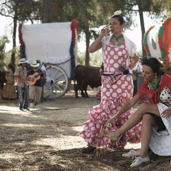 Patricia Vico en una de las escenas de la tv movie 'Carmina'