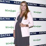 Carla Goyanes en la presentación de la colección de joyas del Día de la Madre de Agatha