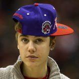 Justin Bieber con una gorra del Toronto