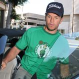Mark Wahlberg con una camiseta de los 'Boston Celtics'