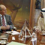 El Rey durante una audiencia con el ministro de Exteriores de Emiratos Árabes
