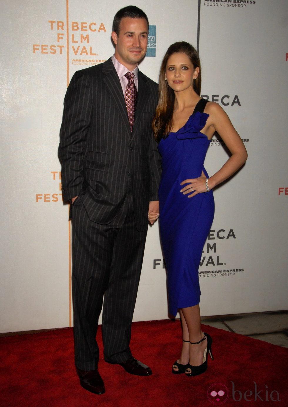 Sarah Michelle Gellar y Freddie Prinze Jr.