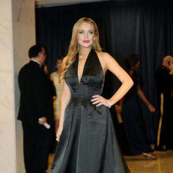 Lindsay Lohan en la cena de corresponsales de Obama