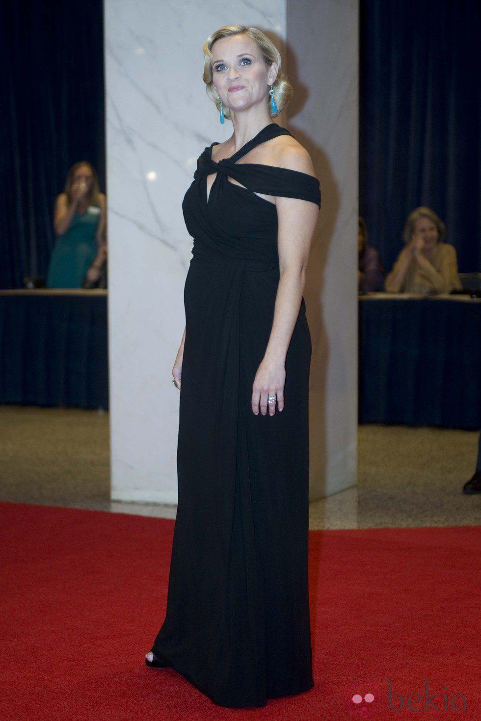 Reese Witherspoon en la cena de corresponsales de Obama