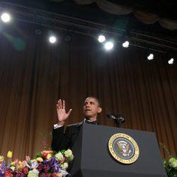 Barack Obama en la cena de corresponsales de la Casa Blanca