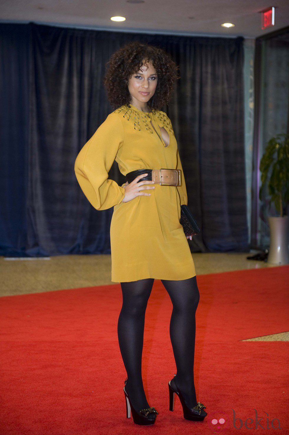 Alicia Keys en la cena de corresponsales en Washington