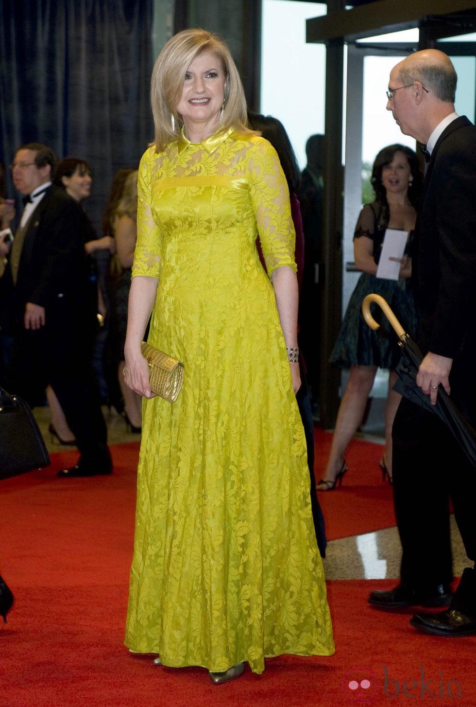 Arianna Huffington en la cena de corresponsales de la Casa Blanca