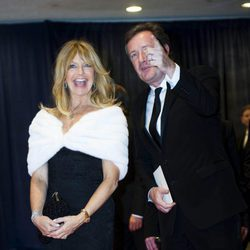 Goldie Hawn y Piers Morgan en la cena de corresponsales de Obama