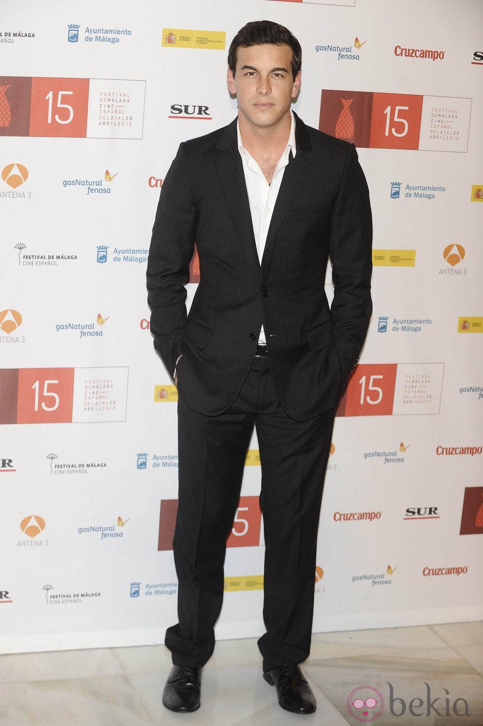 Mario Casas en la clausura del Festival de Málaga 2012