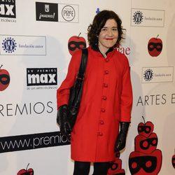 María Pujalte en la entrega de los Premios Max de Teatro 2012