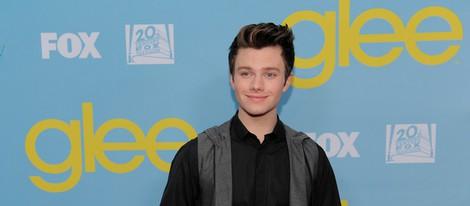 Chris Colfer en la fiesta de 'Glee' organizada por Fox
