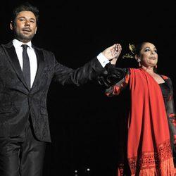 Isabel Pantoja y Miguel Poveda ofrecen un concierto juntos en Madrid