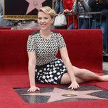 Scarlett Johansson en su entrega de la estrella del Paseo de la Fama