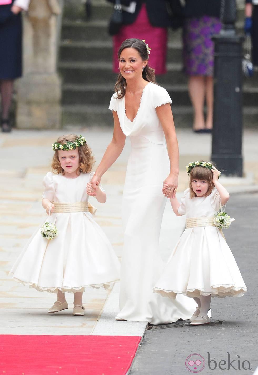 Pippa Middleton en la boda de los Duques de Cambridge