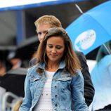 Pippa Middleton a su llegada a un partido de tenis en Londres