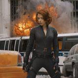Scarlett Johansson es Viuda Negra en la película 'Los Vengadores'