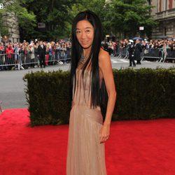Vera Wang en la alfombra roja de la Gala del MET 2012